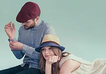Шляпа CHRISTYS арт. TRURO csk100305 (бежевый / фиолетовый)